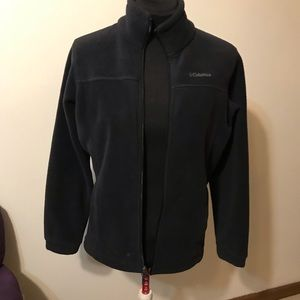 Colombia Fleece Jacket Black zip front size L